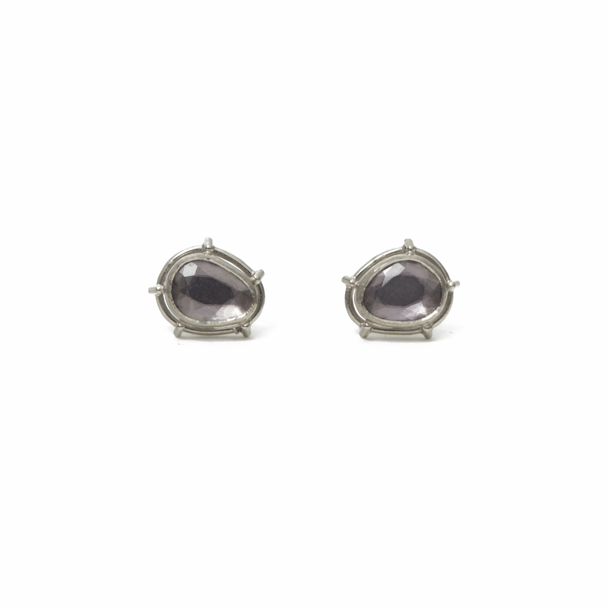 in lyst metallic black nightfall lagos silver product diamond gold earrings jewelry spinel
