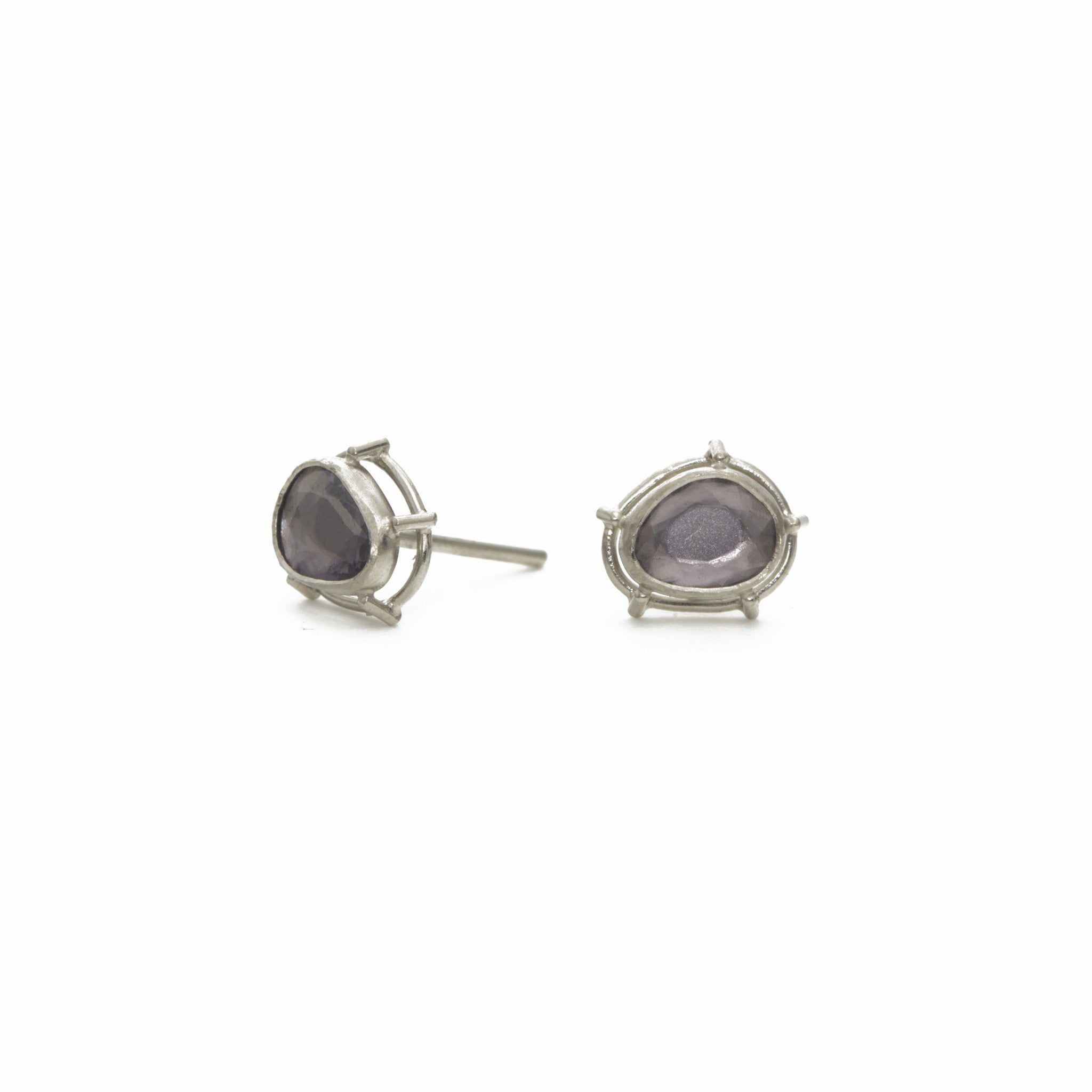 Pale Blue Spinel Earrings