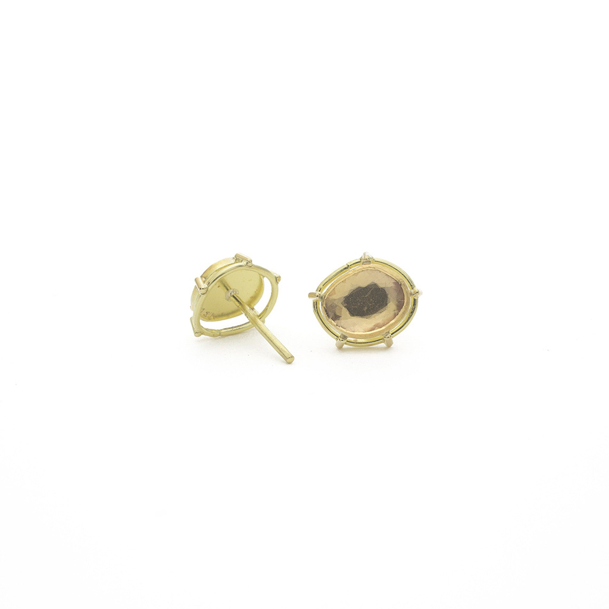 Pink Spinel Stud Earrings