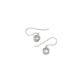 Rose Cut Diamond Drop Earrings