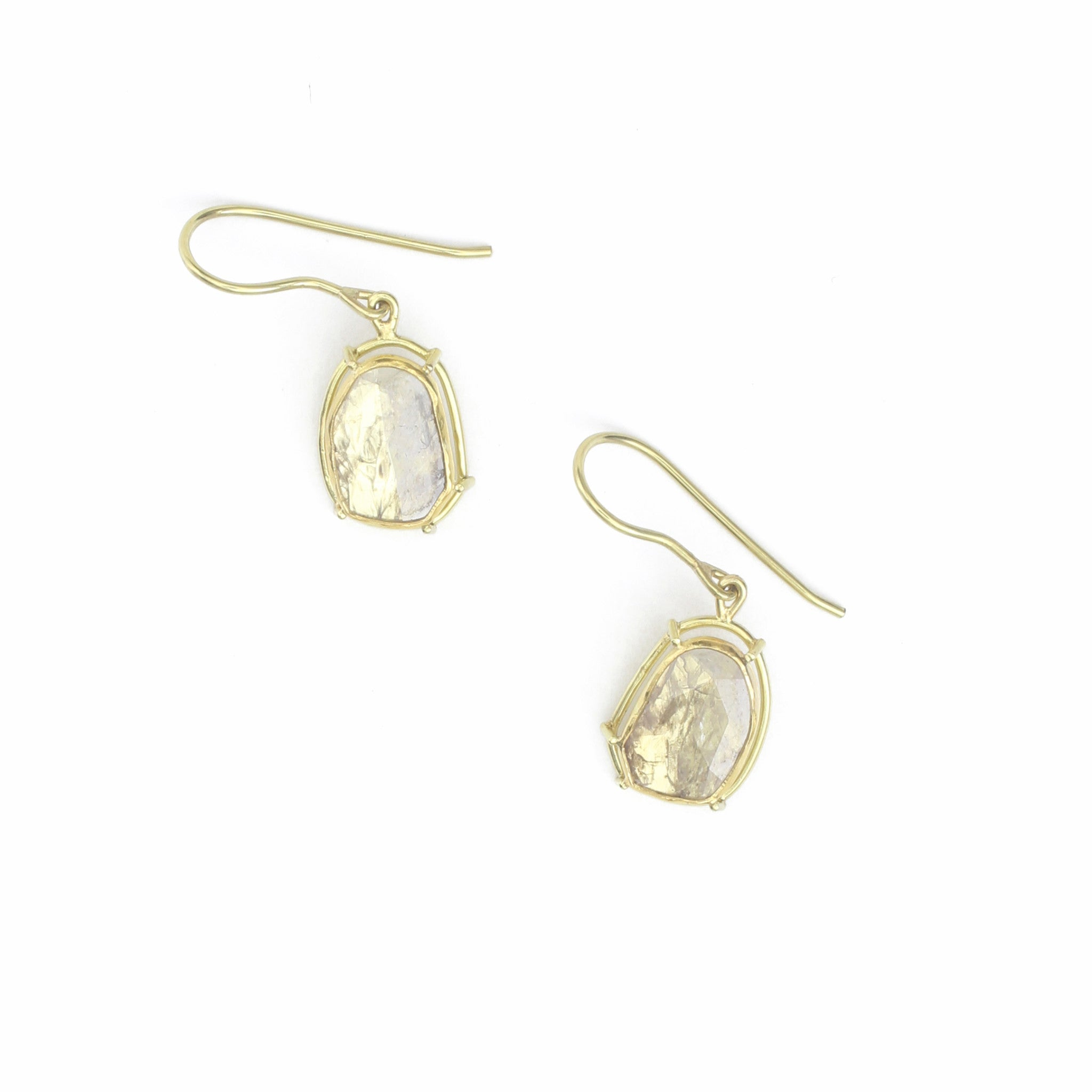 Diamond Slice Drop Earrings