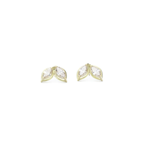 Dual Marquis Emerald Earrings