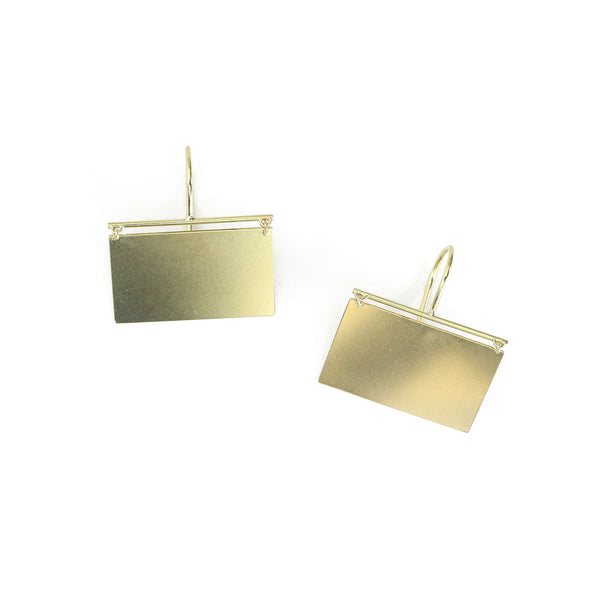 Canvas Earrings - Rectangular