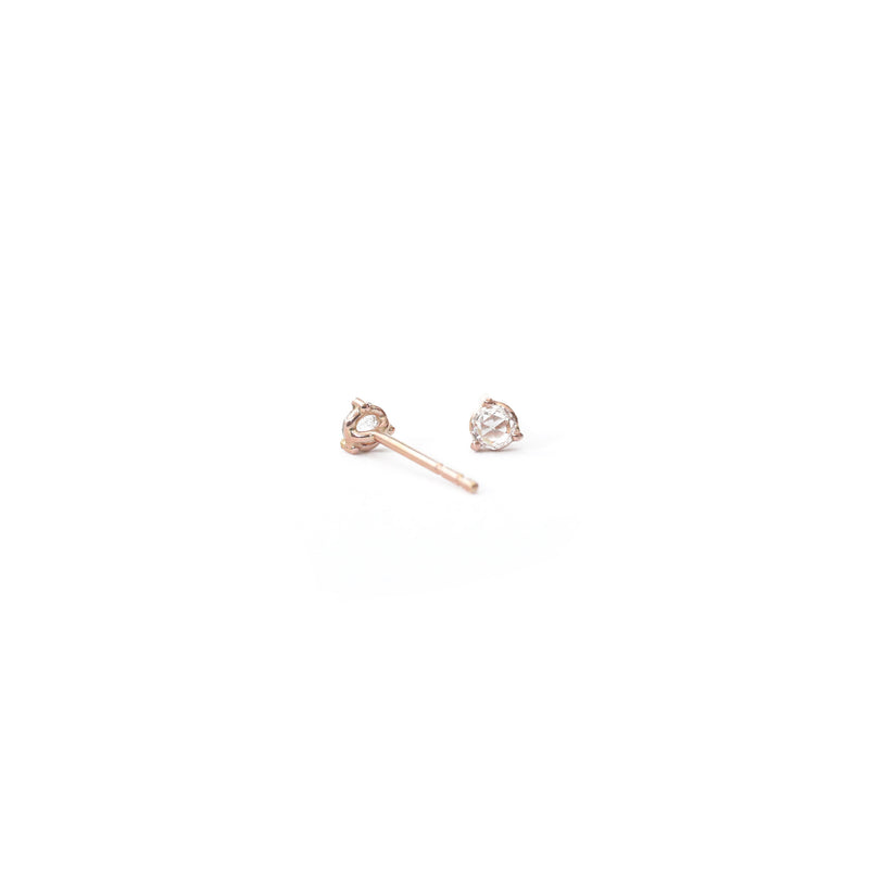 Recycled Rose Cut Diamond Earrings