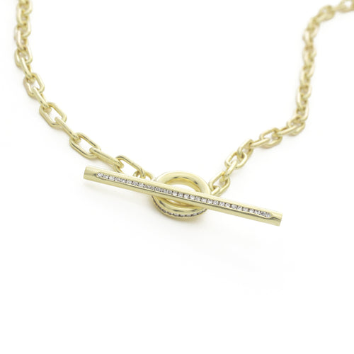 Heavy Weight Chain Necklace - Diamond Toggle