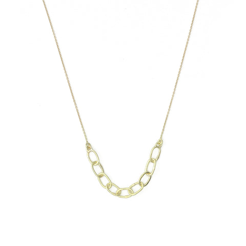 Needle Eye Chain Necklace - Medium Weight