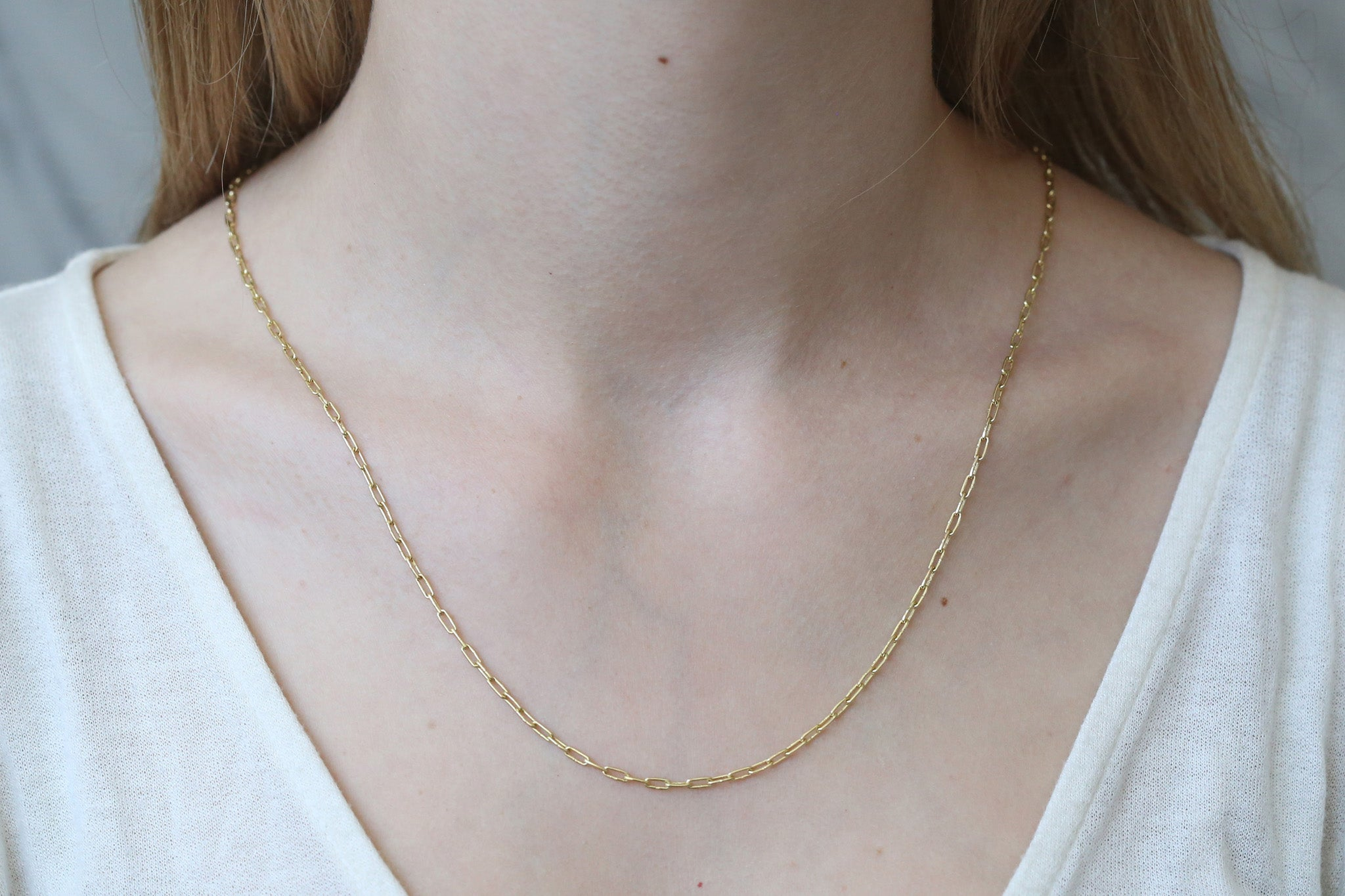 Silk Link Chain Necklace