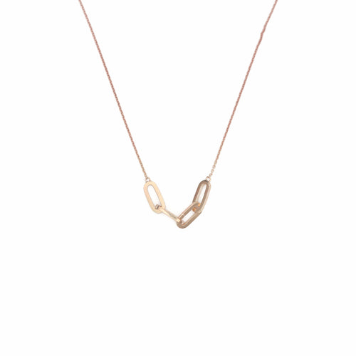 Gold Link Pendant Necklace