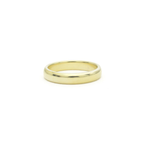 Hand-Carved Minimal Band - Beveled - 4.5mm