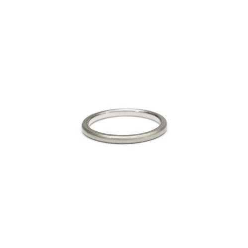 Hand-Carved Rounded Minimal Band - 1.75mm