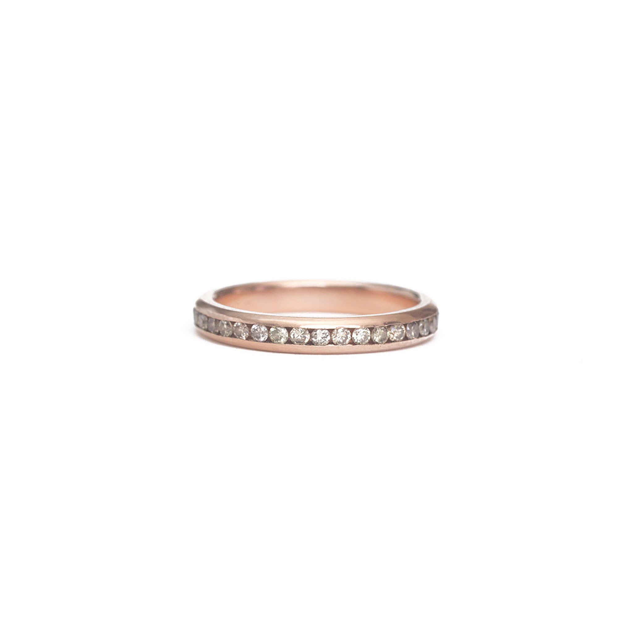 Champagne Diamond Eternity Ring - 1.5mm
