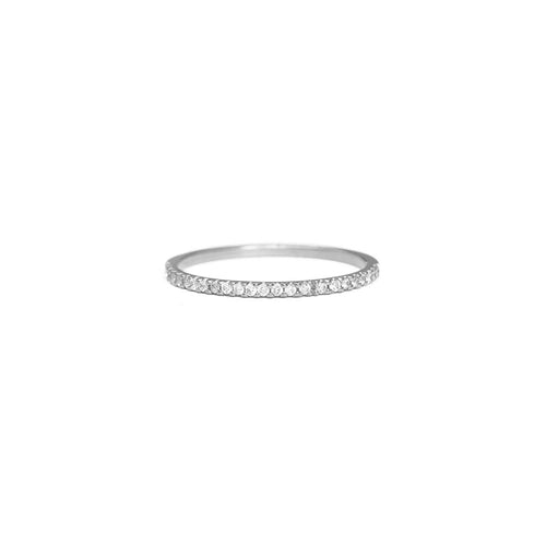 Pavé Diamond Eternity Ring - 1mm
