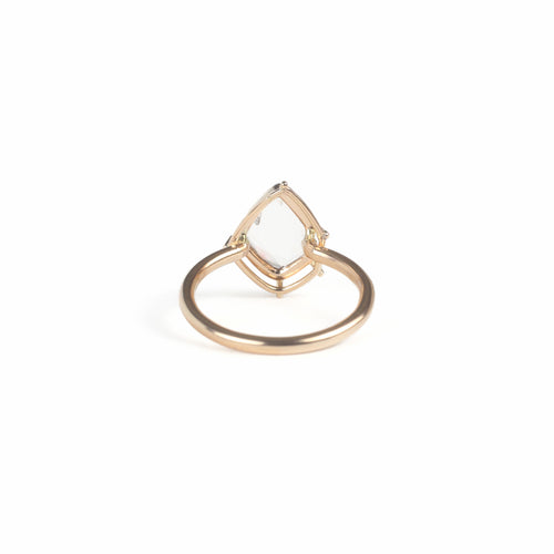 Champagne Diamond Slice Solitaire