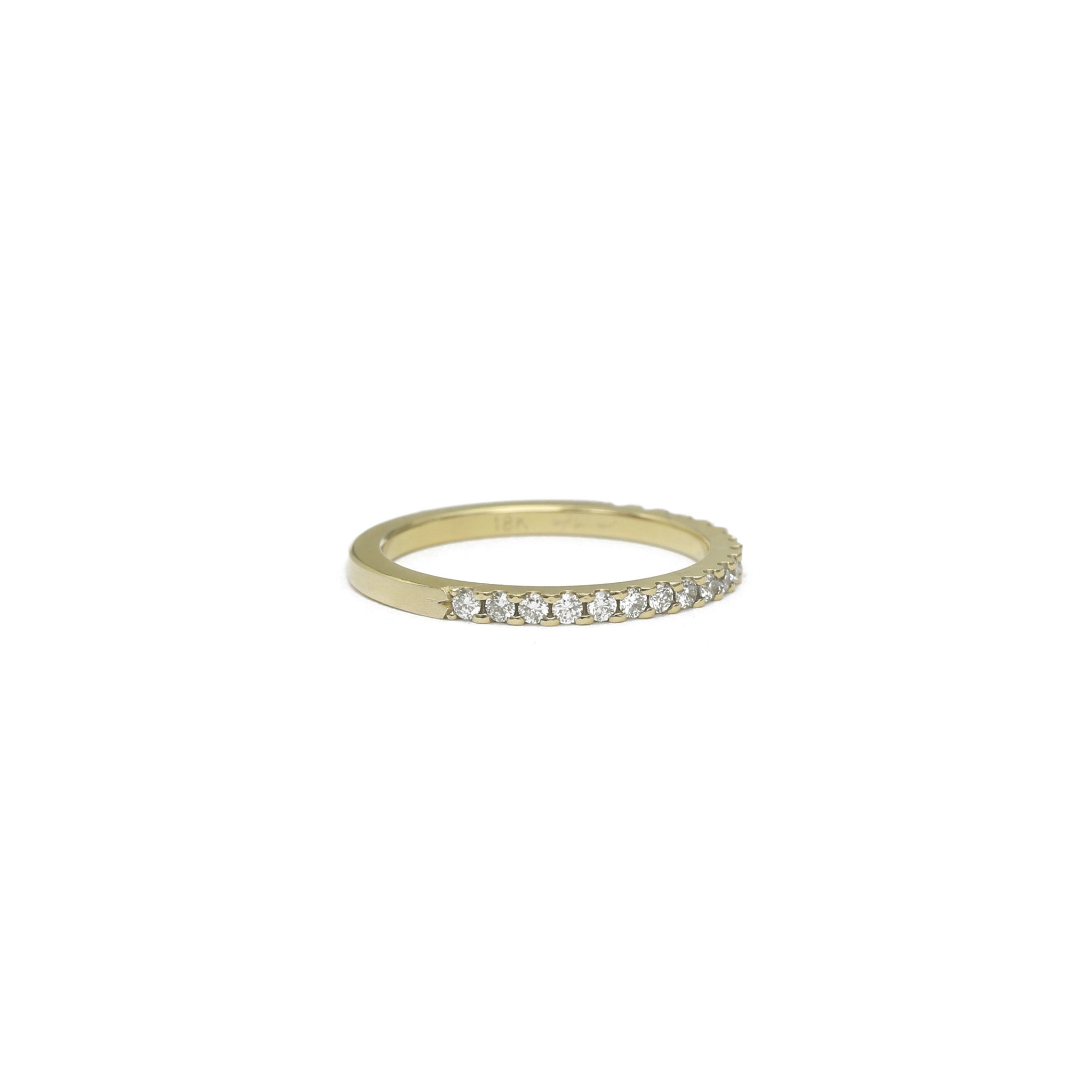 Pavé Diamond Half Eternity Ring - 1.5mm