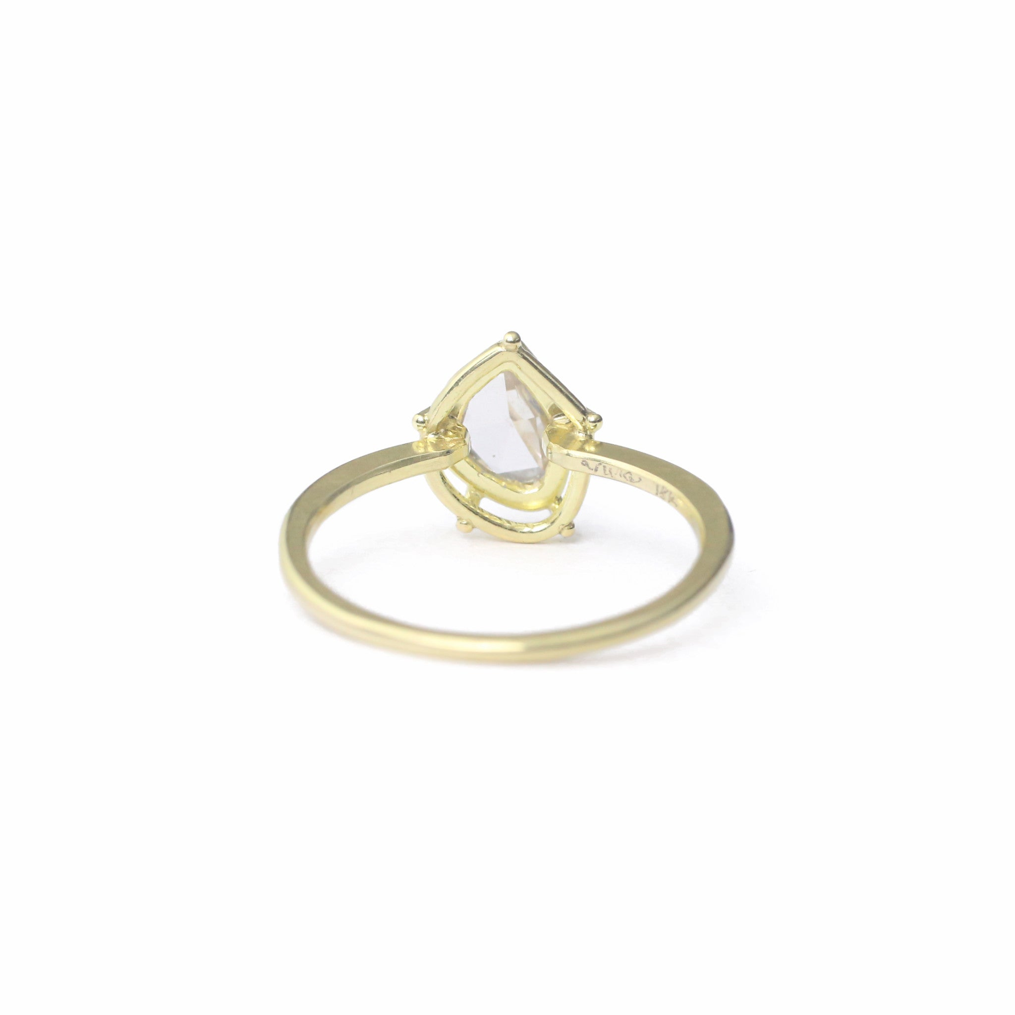 gold engagement rings rose designed tacori cut