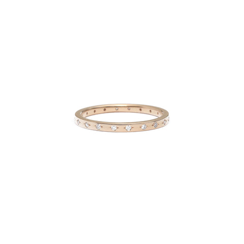 Champagne Diamond Eternity Ring - 1mm