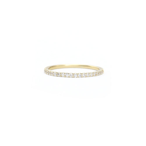 Pavé Diamond Half Eternity Ring - 1.25mm