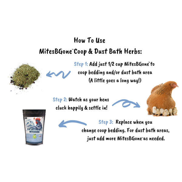 MitesBGone Herbal Blend For Nesting Boxes Or Dust Baths To Repel Mites