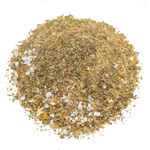 Non-GMO Herbal Layer Feed With Oregano & Garlic - [Oyster Shells Pre-mixed in]
