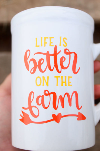 Life Is Better On The Farm Ceramic Coffee Mug (11 ounces)