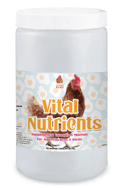 Vital Nutrients: Supplemental Essential Vitamins & Trace Minerals For Pet Chickens & Ducks