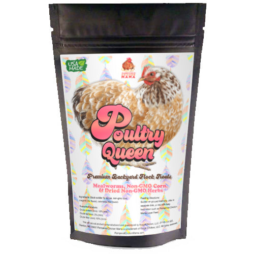 Poultry Queen Mealworm, Non-GMO Corn, Non-GMO Flax, & Herb Treat For Pet Chickens 3d bag