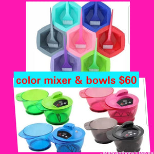 Color bowls and Color mixer