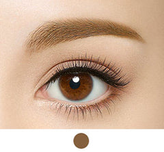 kiss me heavy rotation eyebrow tint natural brown swatch