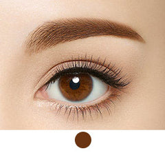 kissme heavy rotation eyebrow tint dark brown swatch