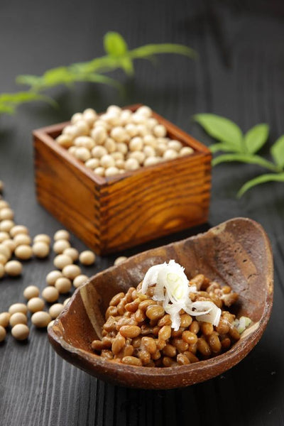natto - japanese fermented soy beans