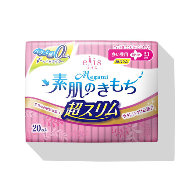 MEGAMI Sanitary Napkins Slim (Heavy Day with Wings)