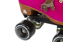 Moxi skates lolly fuchsia gummy wheels close up