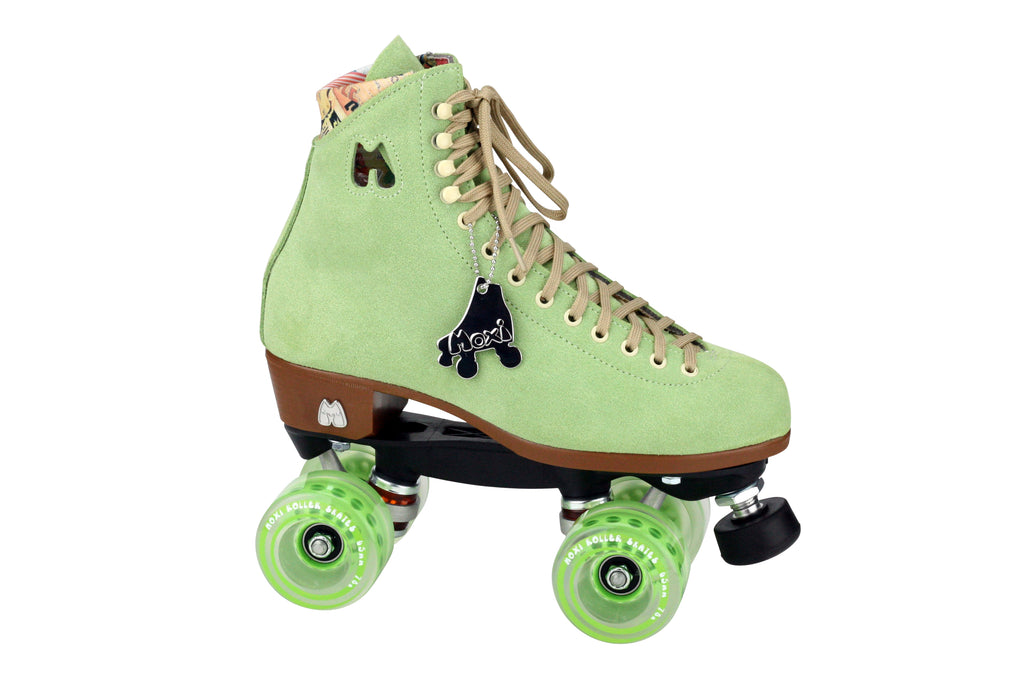 moxi roller skates - lolly honeydew full setup main