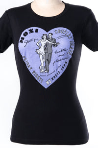 moxi skates Black Couple Skate Tee