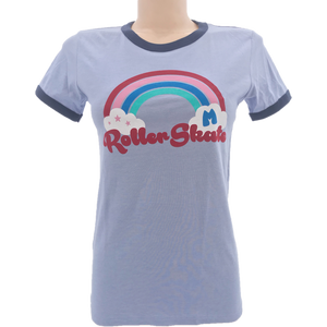 Roller Skating Rainbows Ringer Tee