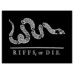 "RIFFS OR DIE Revolutionary Snake Vinyl Sticker (3"" x 4"")"