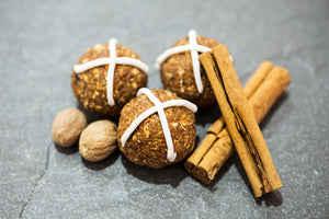 LIMITED EDITION: 8 Hot Cross Bun Handmade Gourmet Protein Balls.