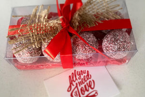 Gift wrapped 8 pack mixed Handmade Gourmet Protein Balls.