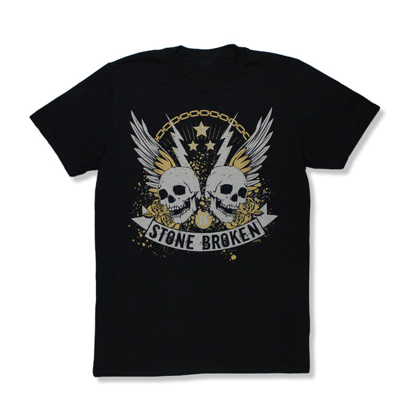 TWIN SKULLS 2018 TOUR BLACK T-SHIRT