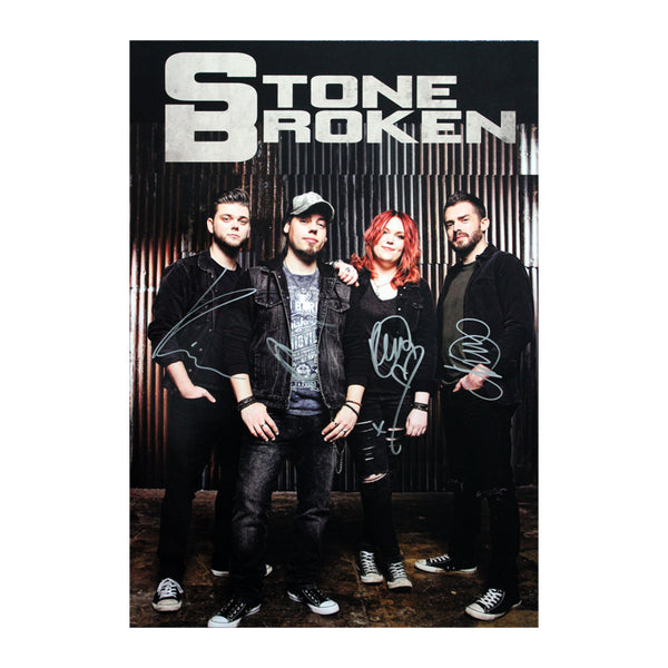 STONE BROKEN SIGNED POSTER