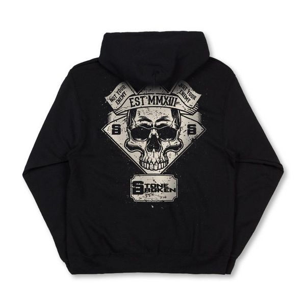 NOT YOUR ENEMY SKULL BLACK ZIP HOODIE