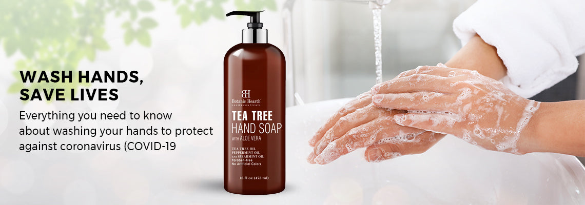 Covid-19: Wash Hands, Save Lives with Botanic Hearth Tea Tree Hand Soap
