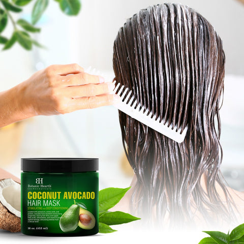 Avocado coconut hair mask