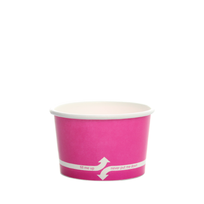 4oz Hot/Cold Paper Food Containers – Pink (76mm)