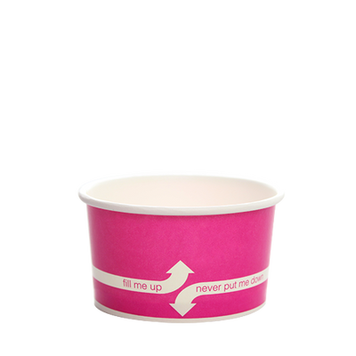 5oz Hot/Cold Paper Food Containers – Pink (87mm)