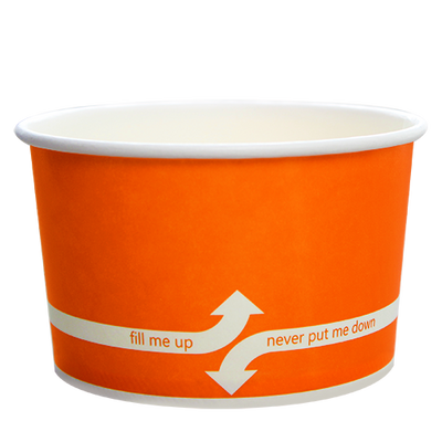 20oz Hot/Cold Paper Food Containers – Orange (127mm)