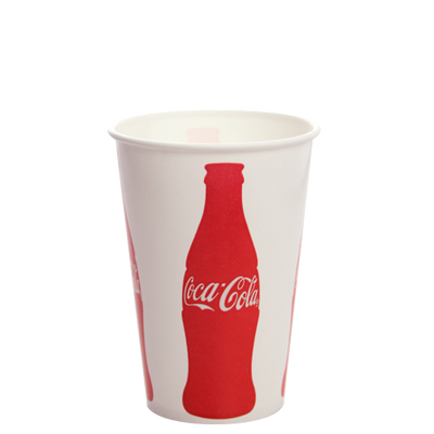 16oz Paper Cold Cups- Coca Cola (90mm)
