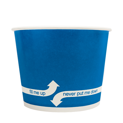 16oz Hot/Cold Paper Food Containers – Blue (112mm)