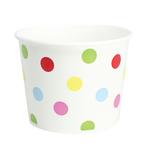 16oz Hot/Cold Paper Food Containers – Dots (112mm)