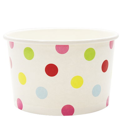 20oz Hot/Cold Paper Food Containers – Dots (127mm)